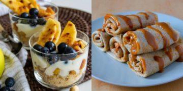 Recetas de meriendas saludables, fáciles y dulces