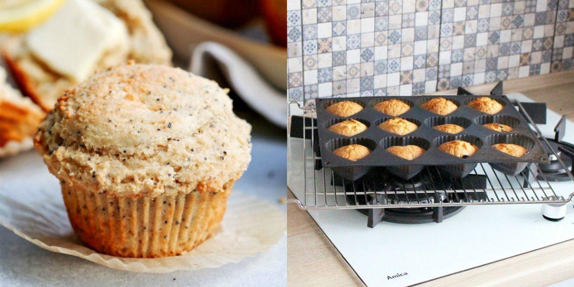 Receta de muffins integrales de limón
