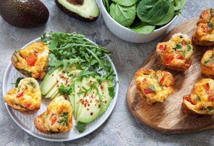 Muffins sanos con vegetales