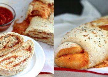 Pan de pizza con pepperoni