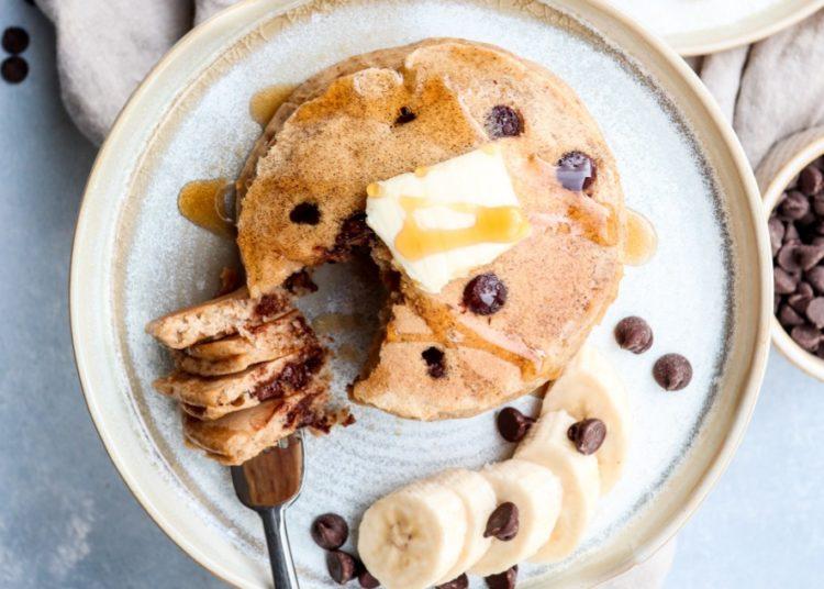 Pancakes con chispas de chocolate
