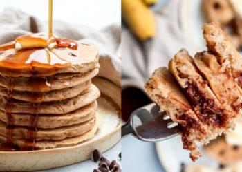 Receta para hacer panqueques de banana caseros integrales y saludables