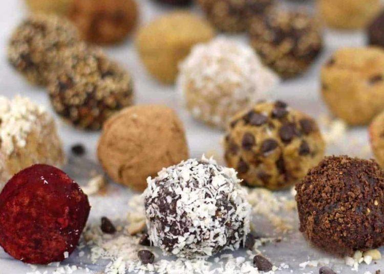 Bolas de proteína con avena