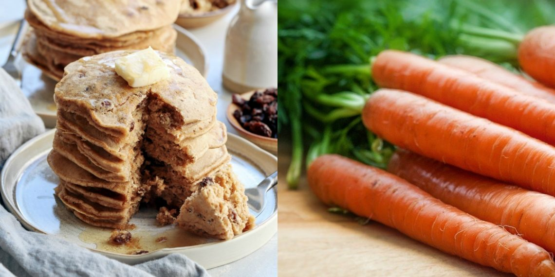 Masa con sabor a pastel: receta de panqueques caseros saludables de zanahoria (pancakes)