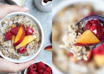 En tus recetas de desayunos agrega esta opción con avena, canela y agua