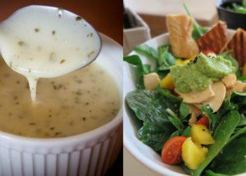 Recetas de salsas caseras para ensaladas y comidas saludables