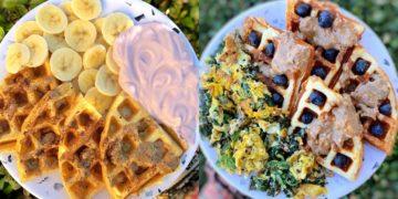 Masa para hacer recetas de waffles saludables