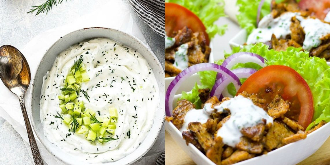 Salsa de yogur y pepino (receta griega)
