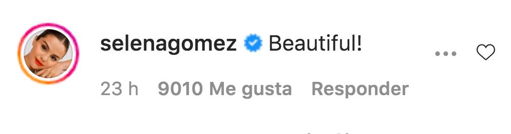 Selena Gomez comentario