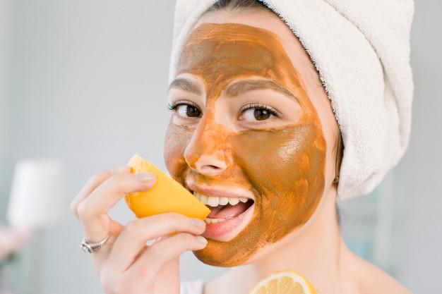 mascarillas de naranja