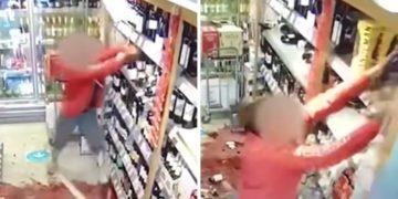 Mujer destrozó tienda