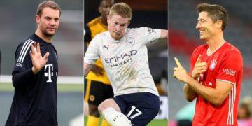 Jugador del Año UEFA: Neuer, De Bruyne y Lewandowski son nominados