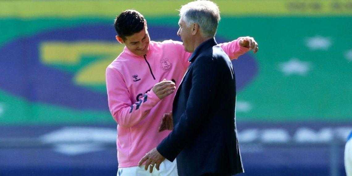 Ancelotti dice que hasta él puede marcar goles si juega con James