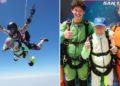 abuelo Alfred Blaschke rompe récord al saltar en paracaídas
