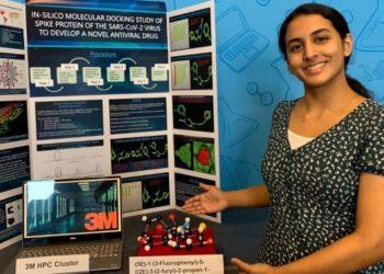 Anika Chebrolu descubre molécula potencial para neutralizar el COVID-19