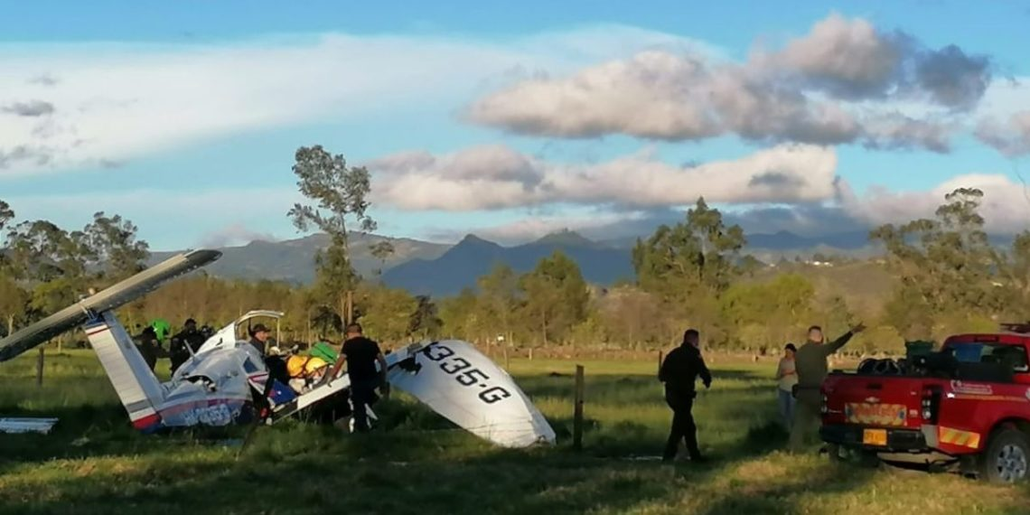Bebé sobrevivió a accidente de avioneta en Colombia