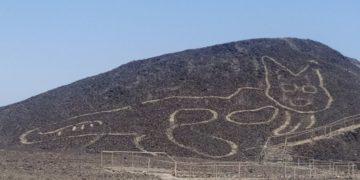 Descubren un nuevo geoglifo de gato en las misteriosas Líneas de Nazca