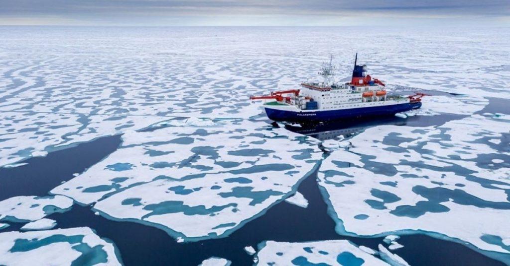 El hielo en el Ártico afectado por el cambio climático
