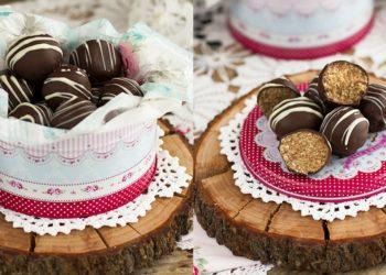 Receta de bolitas de chocolate y coco