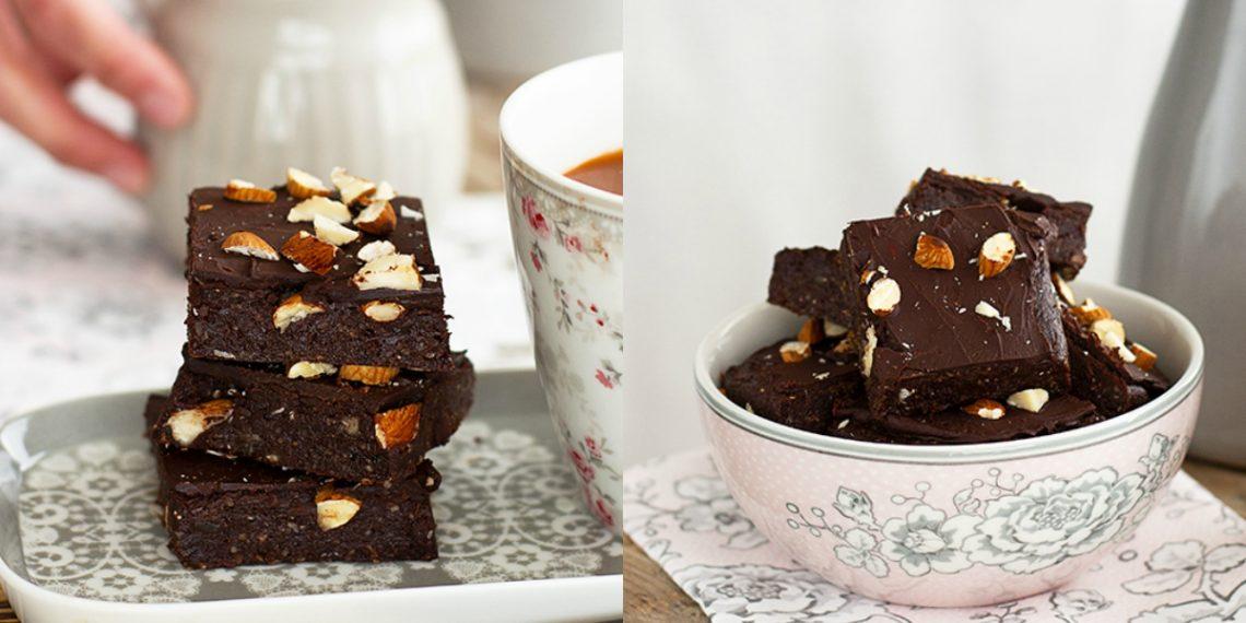 Receta de brownie casero de chocolate saludable y fácil