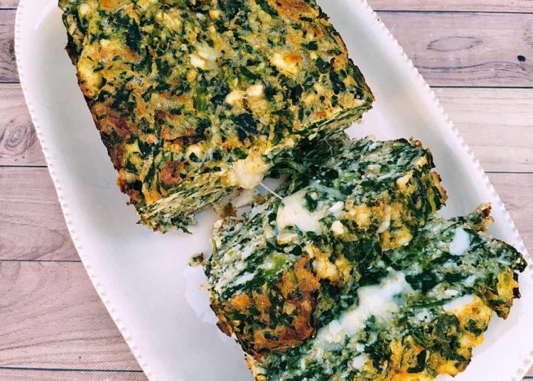 Pan saludable con espinacas y queso