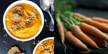 Cómo hacer una sopa o crema de zanahoria y jengibre sin gluten