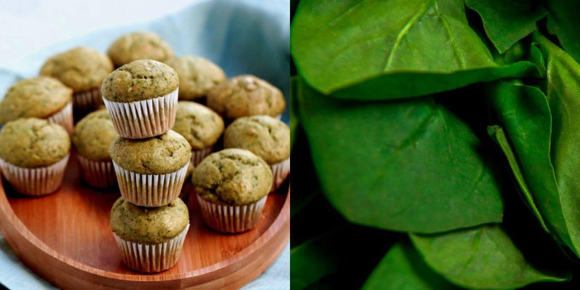 Cupcakes esponjosos saludables de plátano y espinacas para niños: resuelven una comida rápida