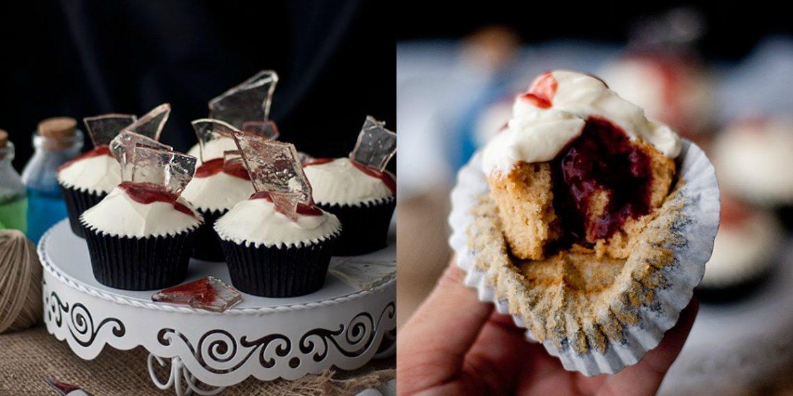 Receta para hacer en Halloween: cupcakes rellenos de mermelada con base de vainilla y canela