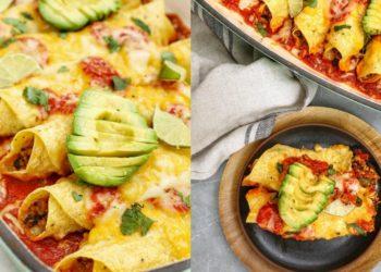 Receta de enchiladas saludables y vegetarianas