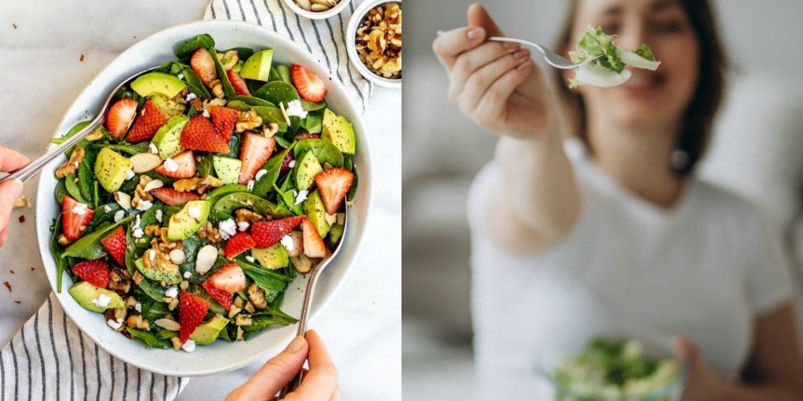 5 recetas diferentes para hacer una ensalada de espinacas con hojas crudas y cocidas