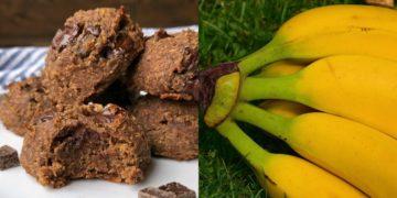 Galletas sin gluten vegetarianas endulzadas con banana (plátano) y chocolate para tus desayunos ricos y sanos