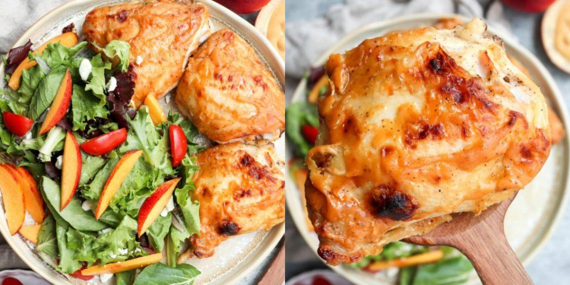 Comidas que debes hacer entre semana: recetas de pollo a la mostaza al horno con verduras
