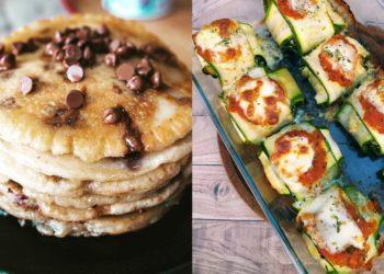 Comidas y diversas recetas de desayunos saludables y nutritivos sin harinas