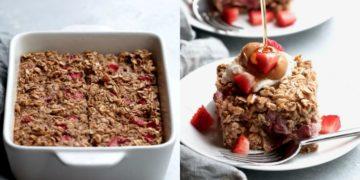 Recetas saludables de desayuno ricos con avena instantánea y banana