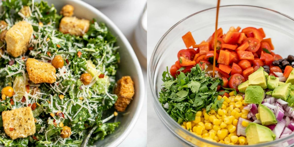 Recetas saludables de ensaladas ricas, frías y fáciles