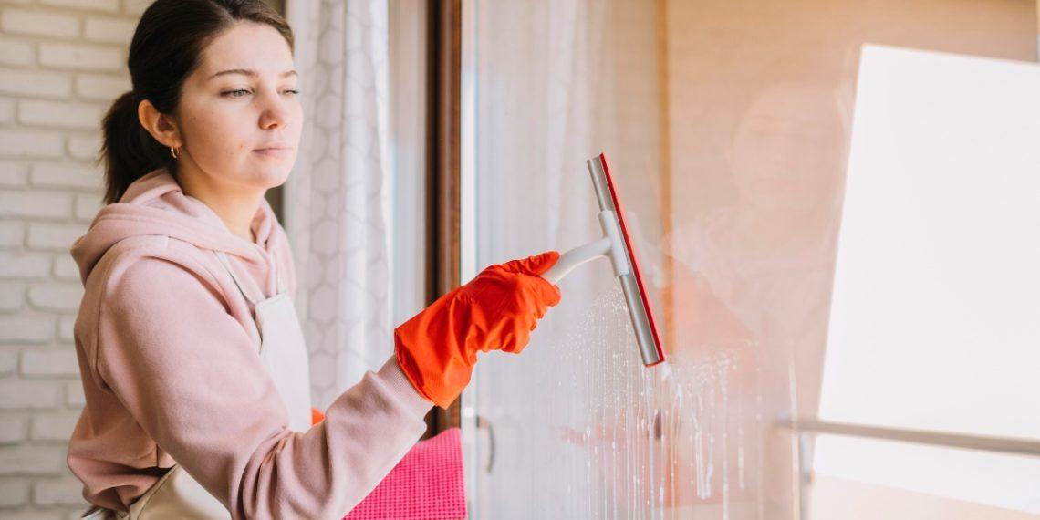 Fensterglas reinigen