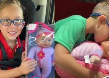 Niño pide de regalo una muñeca
