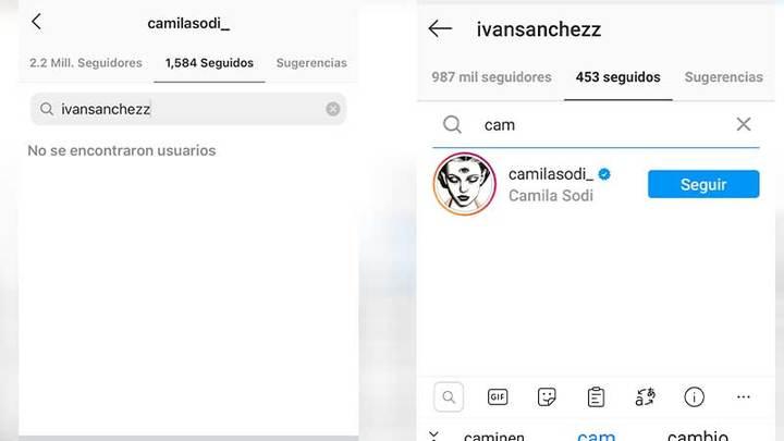 Camila Sodi deja de seguir a Iván Sánchez