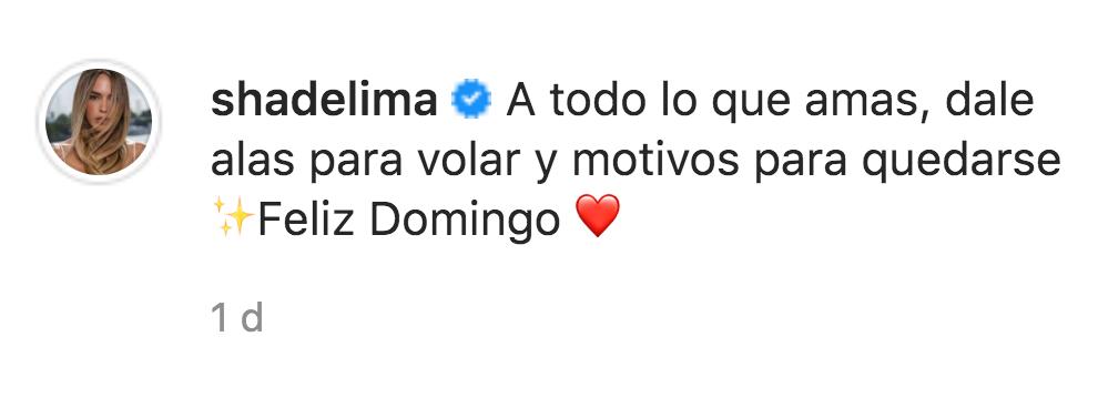 comentario Shannon de Lima