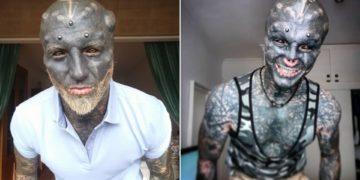 hombre cortó su nariz y sus orejas para verse como un alienígena