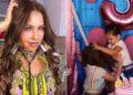 la reacción de Thalía al video de las niñas del pastel