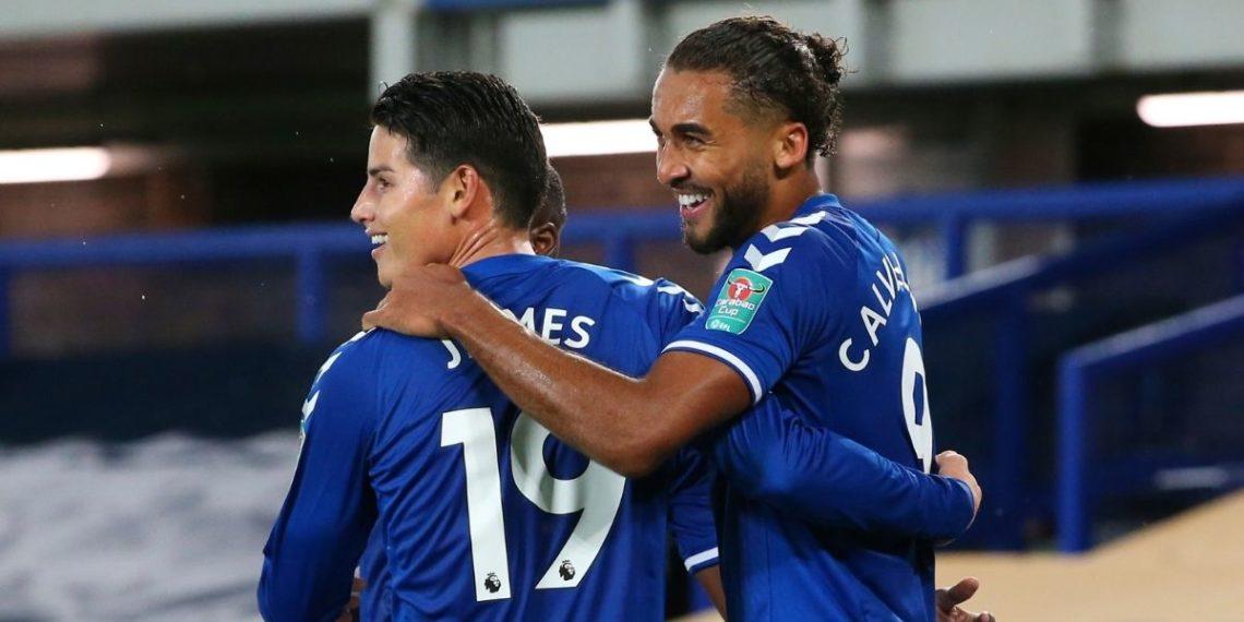 En el vestuario del Everton: Calvert-Lewin está maravillado con James