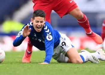 James Rodríguez lesionado: se perderá el próximo juego del Everton