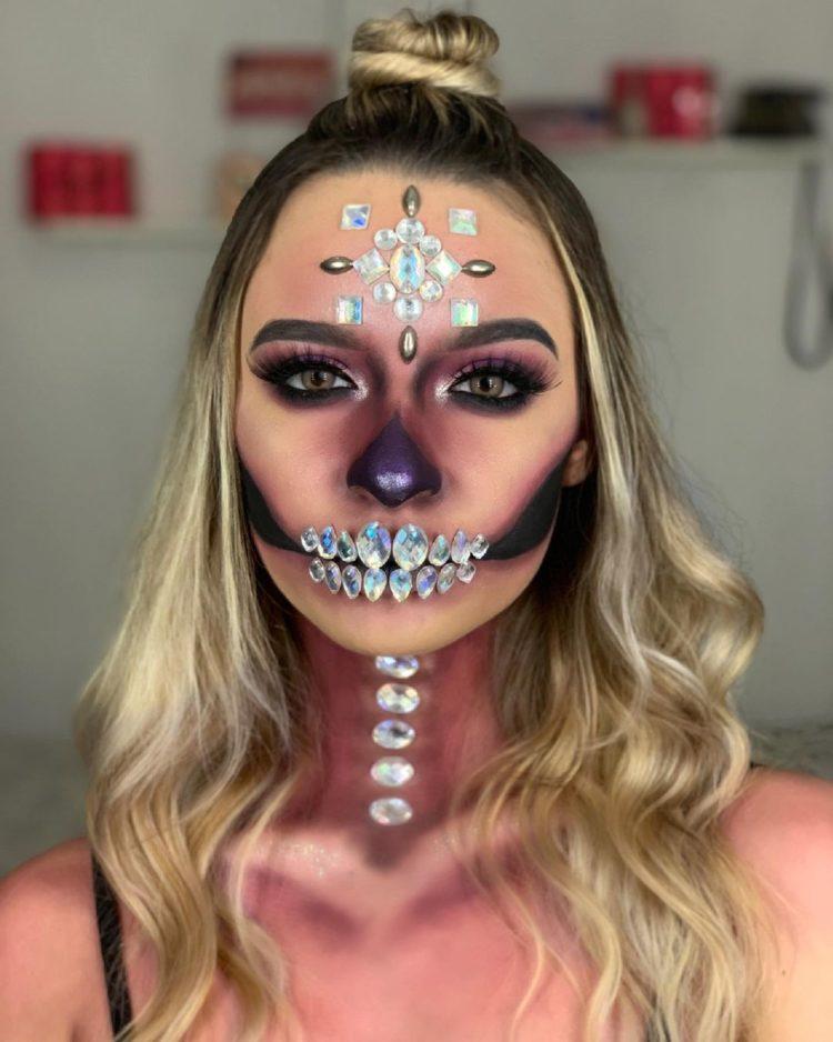maquillaje fácil de catrina 2020