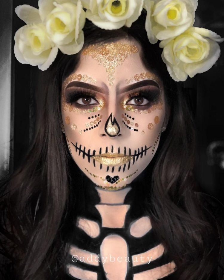 maquillaje simple de catrina