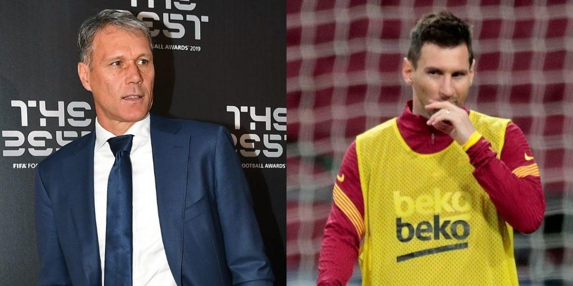«Messi juega como un pastelero»: dice Marco van Basten