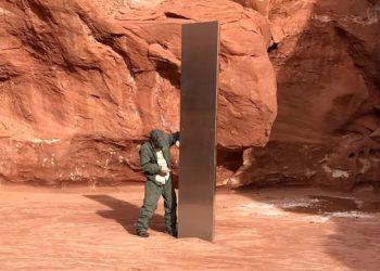 monolito en el desierto de Utah en Estados Unidos