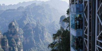 el ascensor más alto del mundo en China