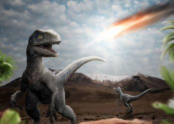 dinosaurios y la extinción por la caída de un asteroide