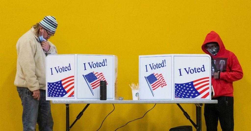 Escrutinio de votos elecciones en Estados Unidos.